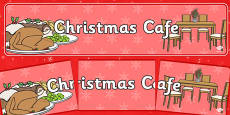 Christmas Cafe Role Play Banner