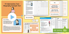 * NEW * Y2 Information Texts: Biography Example Text