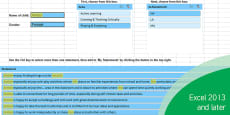 EYFS Report Writing Bank of Statements Easy Selection Tool - Characteristics of Effective Learning