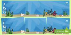 El pez arcoiris fondo de mundo pequeño