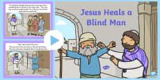 Jesus Heals A Blind Man PowerPoint