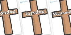 Days of the Week on Crosses