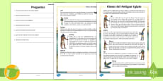 * NEW * Comprensión lectora: Los dioses del Antiguo Egipto