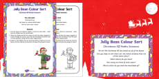 Jelly Bean Colour Sort Christmas Elf Maths Scenario