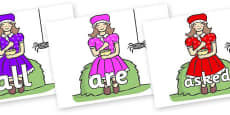Tricky Words on Little Miss Muffet