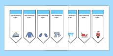 Editable Winter Bookmarks