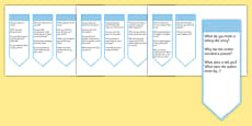 Guided Reading Curriculum Questions Bookmarks Year 1