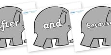 Connectives on Elephants to Support Teaching on Elmer