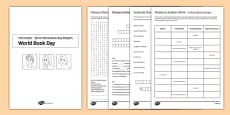 World Book Day Puzzle Booklet A4