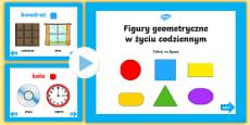 Prezentacja PowerPoint Figury geometryczne w życiu codziennym