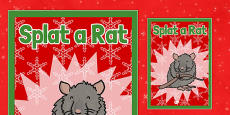 Christmas Themed Splat a Rat Poster
