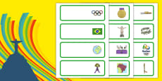 Rio Olympics 2016 Editable Drawer Peg Name Labels