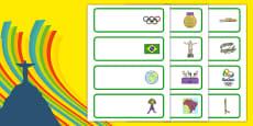 Rio Olympics 2016 Editable Drawer Peg Name Labels