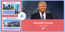 Donald Trump Fast Facts PowerPoint