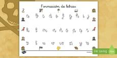 Tapiz de formación de letras: Los piratas