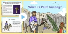 * NEW * When Is Palm Sunday? PowerPoint