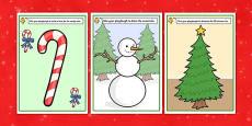 Christmas Themed Playdough Mats