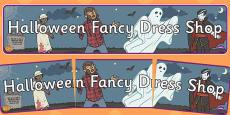 Halloween Fancy Dress Shop Role Play Banner