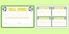 Football Attendance Reward Cards