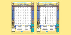 The Story of Esther Bible Story Differentiated Wordsearch