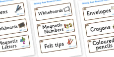 Hedgehog Themed Editable Writing Area Resource Labels