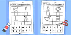 CVC Words Cut and Paste Activity Sheets i