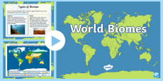 Interactive World Biomes Map PowerPoint