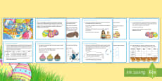 Y6 Easter Pick and Mix Maths Challenge Cards