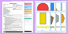 EYFS Lolly Stick Shapes Adult Input Plan and Resource Pack