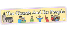 The Church And Its People Display Banner