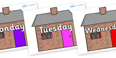 Days of the Week on Brick houses