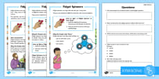 * NEW * KS1 Fidget Spinners Differentiated Go Respond Activity Sheets
