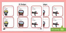 Fire Fighter Role Play Badges