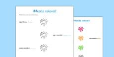 Ficha de actividad - Mezclar colores