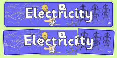 Electricity Display Banner NZ