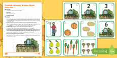 Combine Harvester Number Match Busy Bag Resource Pack for Parents