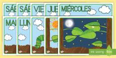Tarjetas de secuenciar de cuento para ayudar en la enseñanza de: La oruga glotona