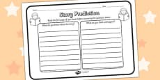 Story Prediction Reading Comprehension Activity Sheet
