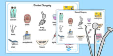 Dentist Surgery Word Mat