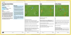 UKS2 Football Skills 2 Passing Lesson Pack