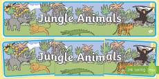 Jungle Animal Themed Display Banner
