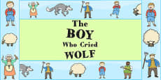 The Boy Who Cried Wolf Display Borders