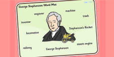 George Stephenson Word Mat