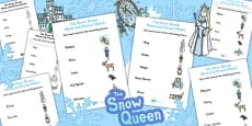 The Snow Queen Word and Picture Match