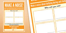 Anti-Bullying Week: Make A Noise - Who Will You Tell? Activity