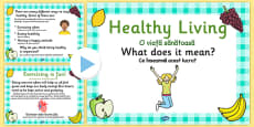 EYFS Healthy Eating and Living PowerPoint Romanian Translation