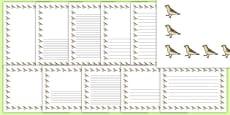 Sparrow Portrait Page Borders