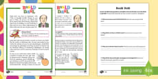 * NEW * Roald Dahl Differentiated Reading Comprehension Activity English/Italian