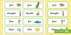 Voiceless 'th' and 'f' Minimal Pair Cards