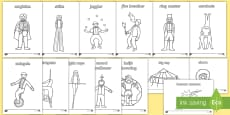 Circus Colouring Sheets